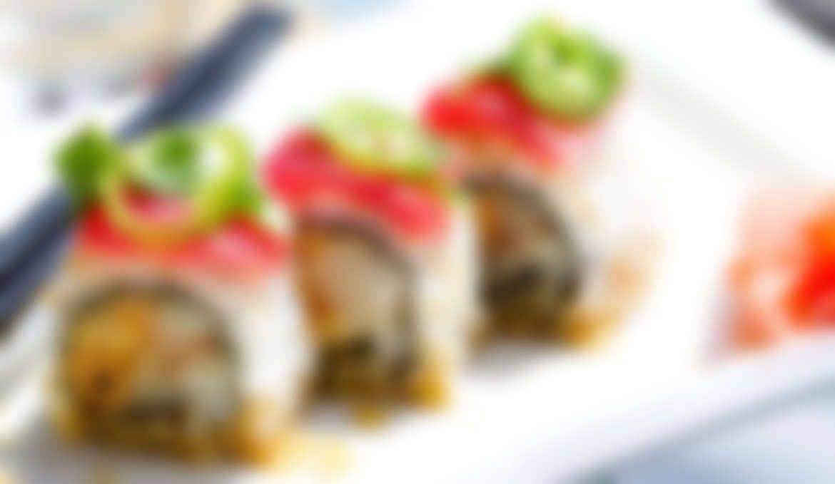 Delicious Meat Sushi